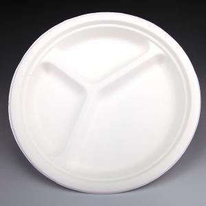 Compostable biodegradable bagasse plate